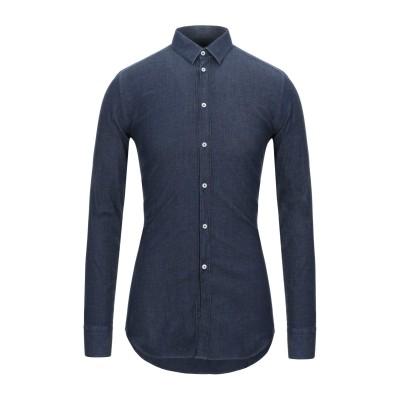 RAF MOORE シャツ ブルー 38 コットン 98% / ポリウレタン 2% シャツ