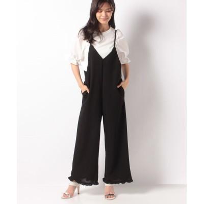 (axes femme/アクシーズファム)Tシャツsetコンビネゾン/レディース ブラック