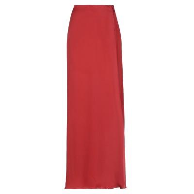 THE ROW ロングスカート レッド 4 シルク 100% ロングスカート