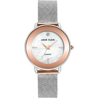 アンクライン 腕時計 アクセサリー レディース Women's Diamond-Accent Two-Tone Stainless Steel Mesh Bracelet Watch 32mm Two-tone