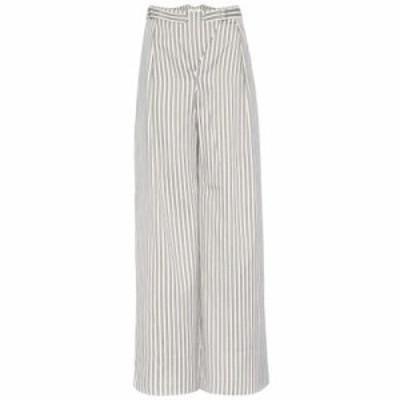 ジマーマン その他ボトムス・パンツ Bowerbird Buckle cotton-blend trousers Ash Stripe