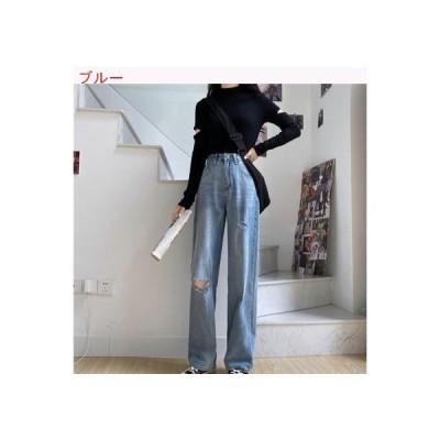 【送料無料】レディース 秋 感 女性のジーンズ ルース 韓国風 何でも似合う ハイウエス | 364331_A63308-3992382