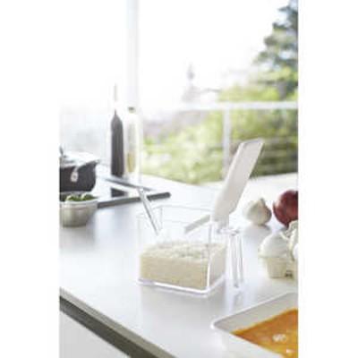 山崎実業 調味料ストッカー アクアL(Seasoning Stocker AQUA L) ホワイト ホワイト 02889