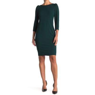 カルバンクライン レディース ワンピース トップス 3/4 Length Sleeve Sheath Dress MALACHITE