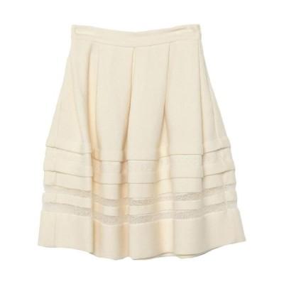 ERMANNO SCERVINO ひざ丈スカート  レディースファッション  ボトムス  スカート  ロング、マキシ丈スカート アイボリー