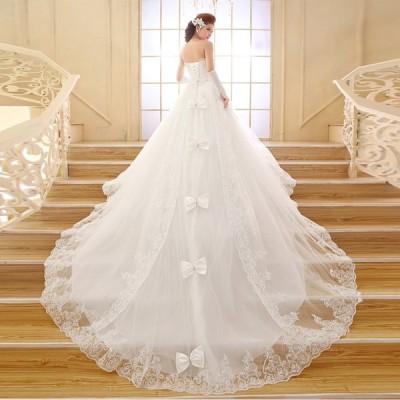 ブライズメイド ブライダル ウエディングドレス ロング ドレス パーティードレス 純白 結婚式 披露宴【S-XXL】