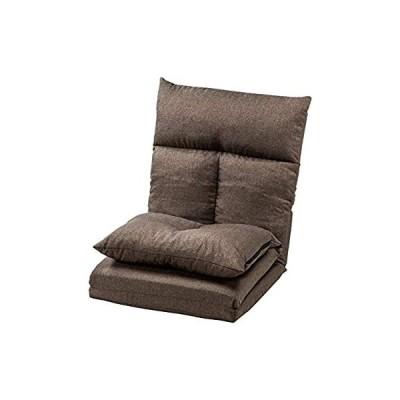 サンワダイレクト ソファーベッド 座椅子 全長220cm 5段階 リクライニング 折りたたみ 1人掛け リクライニングソファー ブラウン 150-SN