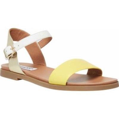 スティーブ マデン レディース サンダル シューズ Women's Steve Madden Dina Ankle Strap Sandal Yellow Multi Manmade