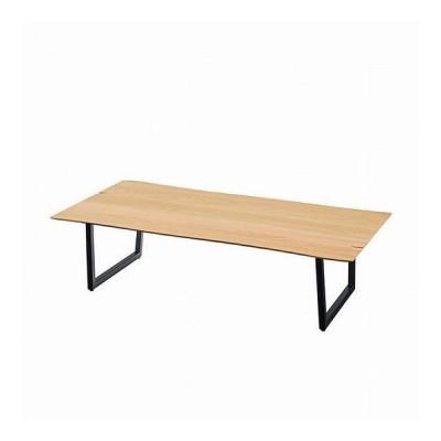 座卓 150 約幅150×奥行80×高さ36 天然木化粧繊維板 ウォルナット ウレタン塗装 スチール オーク ウォールナット 代引不可
