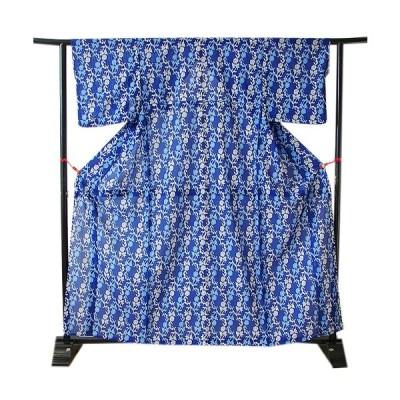 きものしらゆり 夏物 洗える 絽 ポリエステル 小紋 W320