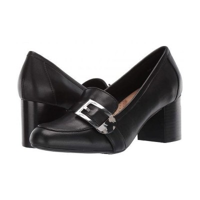Aerosoles エアロソールズ レディース 女性用 シューズ 靴 ローファー ボートシューズ Pattern Work - Black Leather