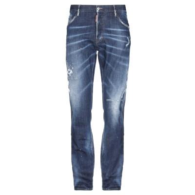 ディースクエアード DSQUARED2 ジーンズ ブルー 50 コットン 98% / ポリウレタン 2% / 牛革 ジーンズ