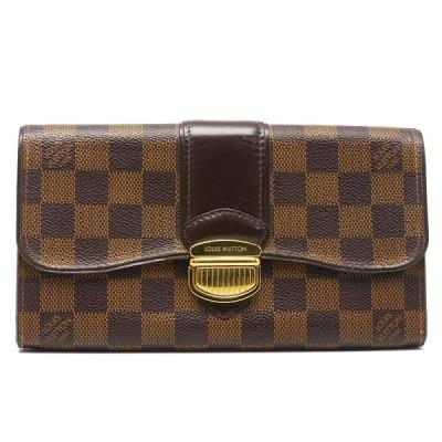 【送料無料】ルイヴィトン Louis Vuitton LV ポルトフォイユ・システィナ N61747 ダミエ 長財布 【1H2847】