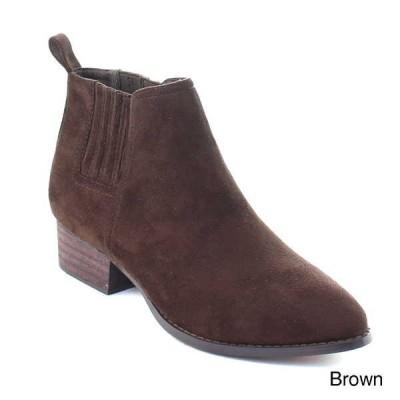 ブーツ シューズ 靴 海外厳選ブランド レディース GOGO-1 プルオン Chunky ヒール Chelsea アンクルハイ ドレス ブーティーs BROWN