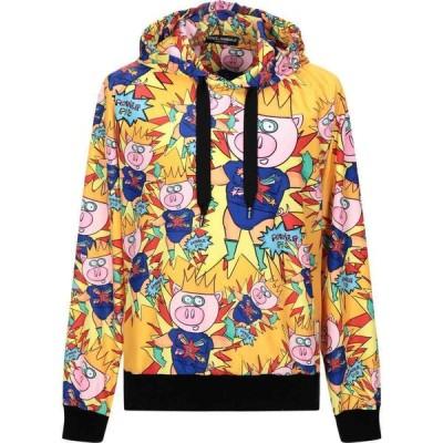 ドルチェ&ガッバーナ DOLCE & GABBANA メンズ パーカー トップス hooded sweatshirt Orange