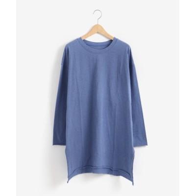 NIMES/ニーム 19/-天竺ロングTシャツ ブルー フリー