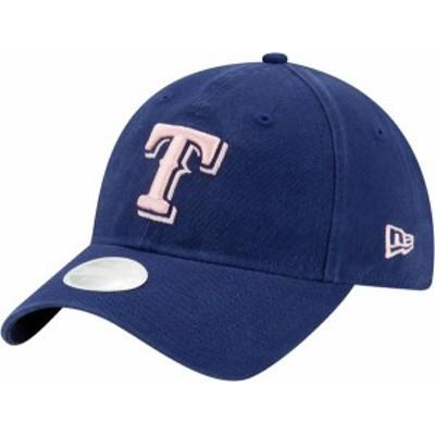 ニューエラ レディース 帽子 アクセサリー New Era Women's Texas Rangers Blue Core Classic 9Twenty Adjustable Hat
