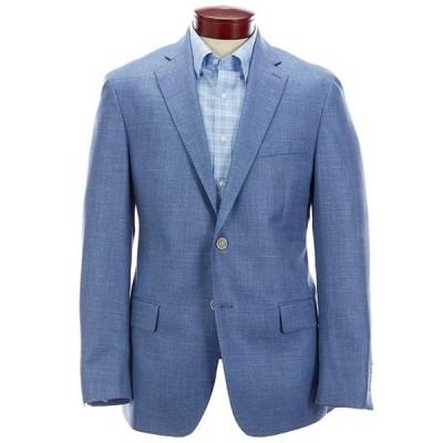 ハート シャフナー マルクス メンズ ジャケット・ブルゾン アウター Modern Fit Solid Blue Wool Blend Sportcoat