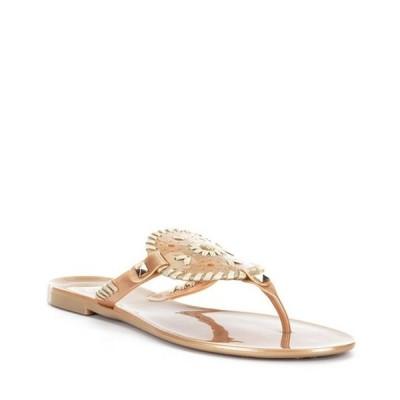 ジャックロジャース レディース サンダル シューズ Georgica Studded Whipstitched Slip On Jelly Sandals