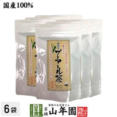 【国産】プーアル茶 48g(4g×12)×6袋セット 純国産 静岡県産緑茶を糀菌で後発酵 重合カテキン 没食子酸 健康 送料無料 国産 緑茶 バレ