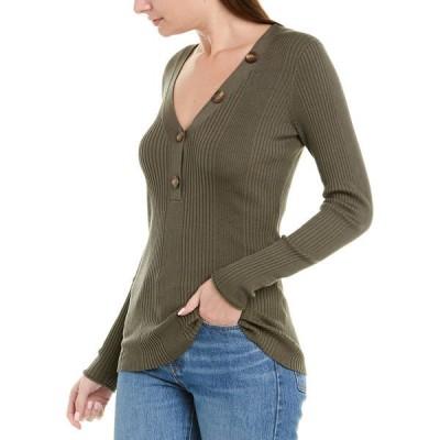 ジェイソンウー ニット&セーター アウター レディース Jason Wu Ribbed Silk & Alpaca-Blend Sweater olive drab