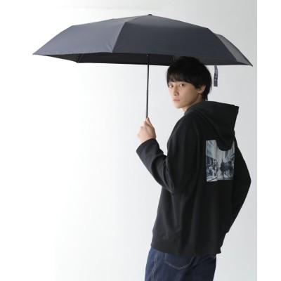 【オシャレウォーカー】 『晴雨兼用シンプル折りたたみ傘』 ユニセックス ネイビー - osharewalker