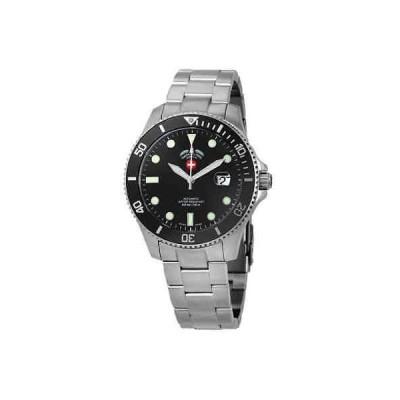 腕時計 スイスミリタリー メンズ Swiss Military Invincible Automatic Black Dial Men's Watch 3006
