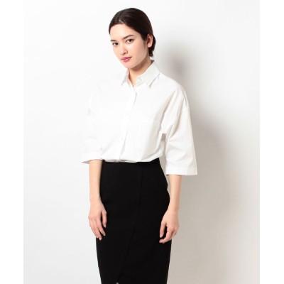 【アルアバイル】  タイプライタービッグシャツ レディース ホワイト 02 allureville