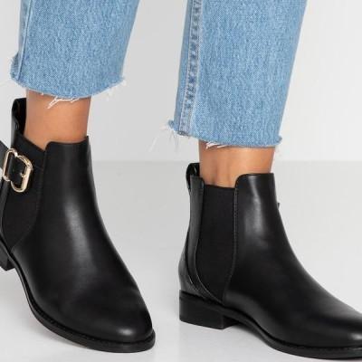 レディース 靴 シューズ ONLBOBBY ELASTIC BUCKLE - Ankle boots - black