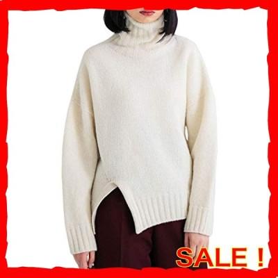 Yidarton タートルネック ニット レディース ハイネックセーター トップス ゆったり 無地 暖かい 上品 おしゃれ