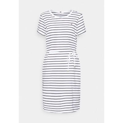 トミー ヒルフィガー ワンピース レディース トップス COOL SHORT DRESS  - Jersey dress - white/sky
