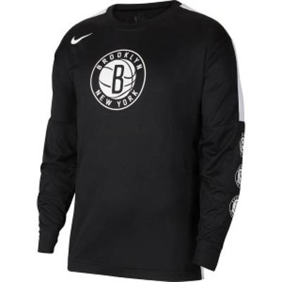 ナイキ メンズ シャツ トップス Nike Men's Brooklyn Nets Black Tonal Dri-FIT Long Sleeve Shooting Shirt