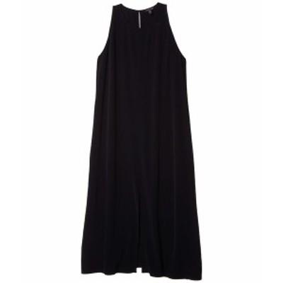 エイリーンフィッシャー レディース ワンピース トップス Round Neck Maxi Dress Black