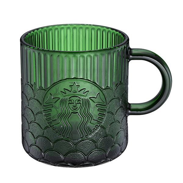 星巴克碧綠女神鱗片玻璃杯