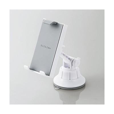 エレコム 車載アクセサリー スマホ・タブレット対応スタンド ゲル吸盤タイプ ホワイト P-CARTB01WH