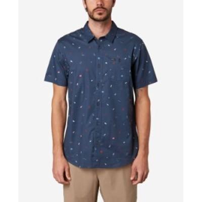 オニール メンズ シャツ トップス Men's Tame Shirt Navy 2