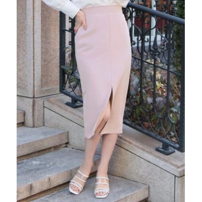 【ジュリアブティック】 センタースリットタイトスカート/21068 レディース ピンク ONE JULIA BOUTIQUE