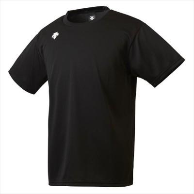 【1点までメール便対応】 [DESCENTE]デサント ワンポイントハーフスリーブシャツ (DMC5801B)(BLK) ブラック[取寄商品]