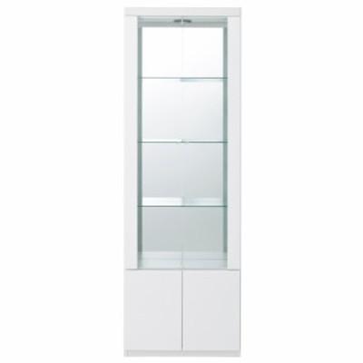家具 収納 本棚 ラック シェルフ コレクションラック 美しく飾れる 光沢仕上げ収納システム ガラス扉コレクションケース  幅60cm 548903