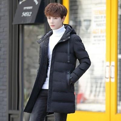 中綿コート メンズ 秋冬 アウター 厚手 中綿ジャケット ダウン風コート ロングコート パーカー フード付き 暖かい 防寒 大きいサイズ おしゃれ スリム 紳士 新品