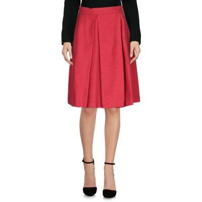 レ コパン LES COPAINS ひざ丈スカート レッド 40 100% コットン ひざ丈スカート