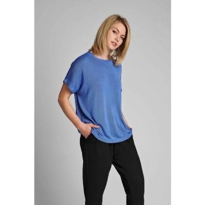 ニンフ Tシャツ レディース トップス NUDARLENE  - Basic T-shirt - wedgewood