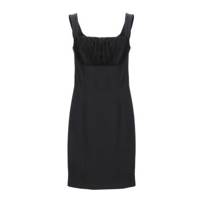 BETTY BLUE ミニワンピース&ドレス ブラック 46 ナイロン 88% / ポリウレタン 12% / ナイロン / レーヨン ミニワンピース