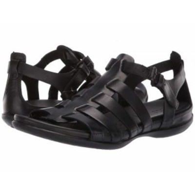 ECCO エコー レディース 女性用 シューズ 靴 サンダル Flash Strappy Sandal Black Cow Nubuck【送料無料】