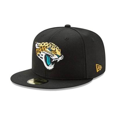 ユニセックス スポーツリーグ フットボール Jacksonville Jaguars New Era Head Logo Omaha 59FIFTY Fitted Hat - Black 帽子