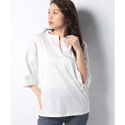 MARcourt stand collar dolman P/O*(OFFWHITE)【返品不可商品】