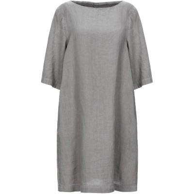 120% ミニワンピース&ドレス ドーブグレー 48 リネン 100% ミニワンピース&ドレス