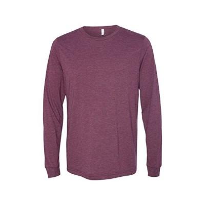 Bella + Canvas Men's Jersey Long-Sleeve T-Shirt XL HEATHER BROWN