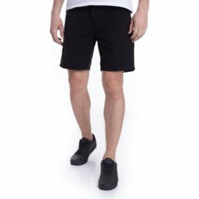 カーハート Carhartt WIP メンズ ショートパンツ ボトムス・パンツ - Newel Newcomb Black Garment Dyed - Shorts