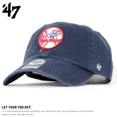 47BRAND フォーティーセブンブランド ローキャップ 帽子 ストラップバック NYヤンキースロゴ (RGW17GWS)